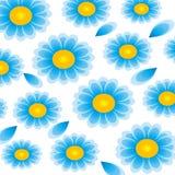 Fiori blu e gialli Fotografia Stock Libera da Diritti