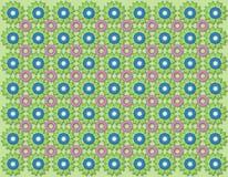 Fiori blu e rosa Immagini Stock