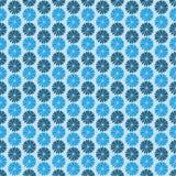 Fiori blu, fondo scuro, modello senza cuciture Immagine Stock Libera da Diritti