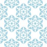 Fiori blu su priorità bassa bianca Reticolo senza giunte ornamentale Fotografia Stock Libera da Diritti