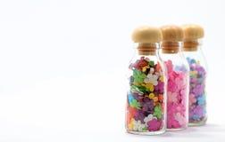 Fiori in bottiglie Fotografie Stock