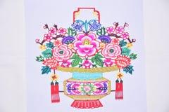 Fiori carta tagliati della Cina Fotografie Stock