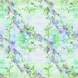 Fiori - composizione decorativa watercolor Reticolo senza giunte Usi i materiali stampati, i segni, gli oggetti, i siti Web, le m Fotografia Stock