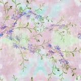 Fiori - composizione decorativa watercolor Reticolo senza giunte Usi i materiali stampati, i segni, gli oggetti, i siti Web, le m Fotografie Stock