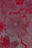 Fiori con il gradiente illustrazione vettoriale