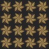 Fiori d'annata dell'oro, ornamento senza cuciture Vettore illustrazione vettoriale
