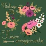 Fiori d'annata. Fiore sveglio per progettazione Fotografie Stock