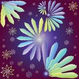 Fiori decorativi del colorfull illustrazione di stock