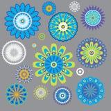Fiori decorativi dell'ornamento Royalty Illustrazione gratis