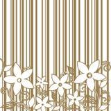 Fiori decorativi, fondo a strisce Immagine Stock