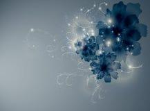 Fiori del blu dello zaffiro Fotografie Stock