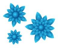 Fiori del blu di vettore Fotografia Stock