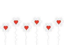 Fiori del cuore Immagini Stock