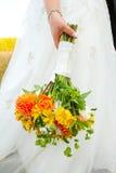 Fiori del mazzo della sposa Fotografia Stock