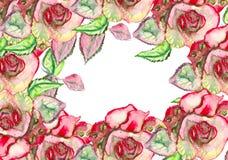 Fiori dell'acquerello illustrazione, foglia e germogli floreali Composizione botanica per la cartolina d'auguri o di nozze Ramo d royalty illustrazione gratis