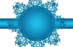 Fiori dell'azzurro della cartolina di Natale Immagine Stock Libera da Diritti