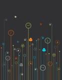 Fiori dell'orologio illustrazione di stock
