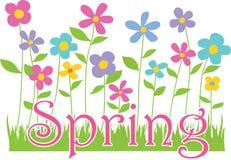Fiori della primavera con testo illustrazione di stock