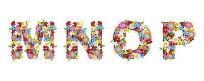 Fiori della sorgente di MNOP royalty illustrazione gratis