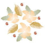 Fiori di autunno dell'acquerello Fotografie Stock