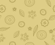Fiori di beige del modello Fotografia Stock Libera da Diritti