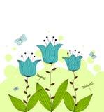 Fiori di Bluebell Illustrazione di Stock
