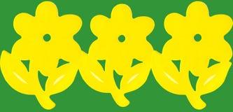 Fiori di carta gialli fotografia stock