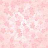 Fiori di ciliegia di rosa del fondo del petalo illustrazione vettoriale