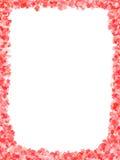 Fiori di colore rosso della pagina Immagini Stock