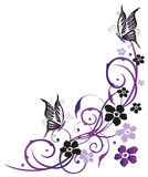 Fiori di estate con le farfalle Immagini Stock Libere da Diritti