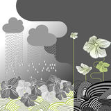 Fiori di giorno piovoso Fotografia Stock
