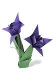 Fiori di Origami sopra bianco Fotografie Stock Libere da Diritti