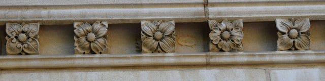 Fiori di pietra di Washington National Cathedral Immagini Stock Libere da Diritti