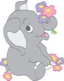 Fiori di raccolto dell'elefante del bambino Fotografia Stock Libera da Diritti