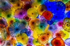 Fiori di vetro di Bellagio Fotografie Stock