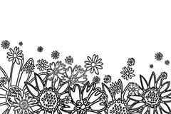 Fiori disegnati a mano Immagine Stock