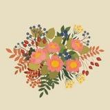 Fiori e bacche di fioritura royalty illustrazione gratis