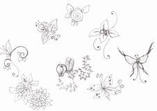 Fiori e farfalla Immagine Stock Libera da Diritti