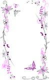 Fiori e farfalle illustrazione vettoriale