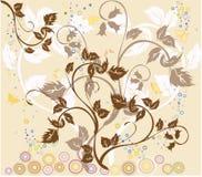 Fiori e farfalle Immagini Stock