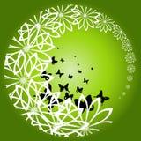 Fiori e farfalle Fotografia Stock