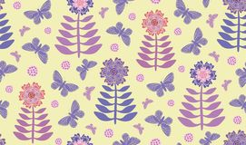 Fiori e farfalle di speranza della primavera royalty illustrazione gratis