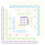 Fiori e foglie Nastri ed ornamenti Decorazione per la vostri progettazione di nozze, elementi di prenotazione del residuo, cartol royalty illustrazione gratis