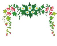 Fiori e foglie. struttura. Immagini Stock Libere da Diritti