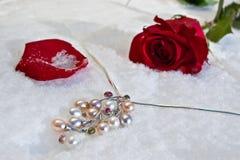 Fiori e gioielliere Fotografie Stock