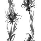 Fiori e modello dell'erba Fotografie Stock Libere da Diritti