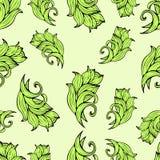Fiori e piante astratti modello senza cuciture, fondo di vettore Ornamento stilizzato naturale Disegno della mano per la progetta Fotografia Stock Libera da Diritti