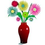 Fiori e vaso illustrazione di stock
