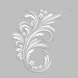 Fiori ed elementi floreali tagliati da carta royalty illustrazione gratis