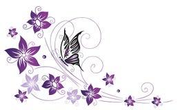 Fiori, elemento floreale Fotografia Stock Libera da Diritti